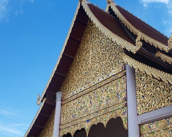 "Travel Photography ""Buddhist Temple, Thailand"" Print"