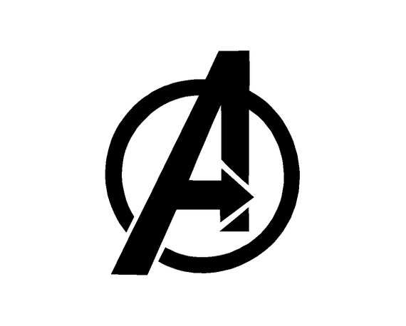 Avengers Symbol Coloring Pages : Items similar to avengers logo gamer decal on etsy