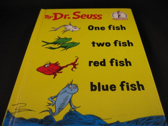 Vintage Children's Book One Fish Two Fish By