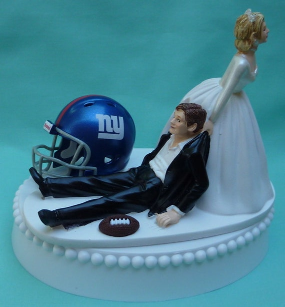 Wedding Cake Topper New York Giants Ny Football Themed W