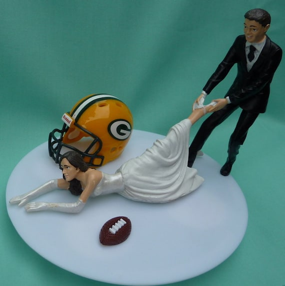 funny wedding cake toppers soccer wedding cake topper green bay packers g football themed w 14606