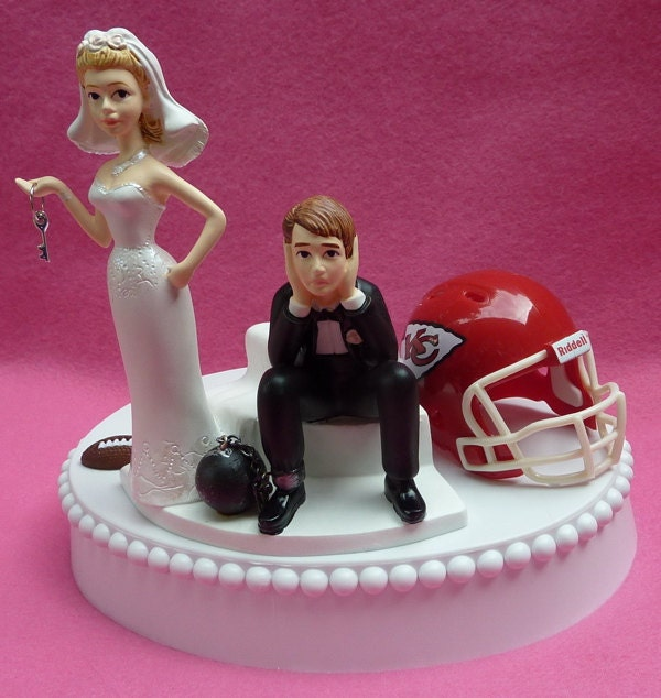 Wedding Cake Topper Kansas City Chiefs Kc Football Themed Ball