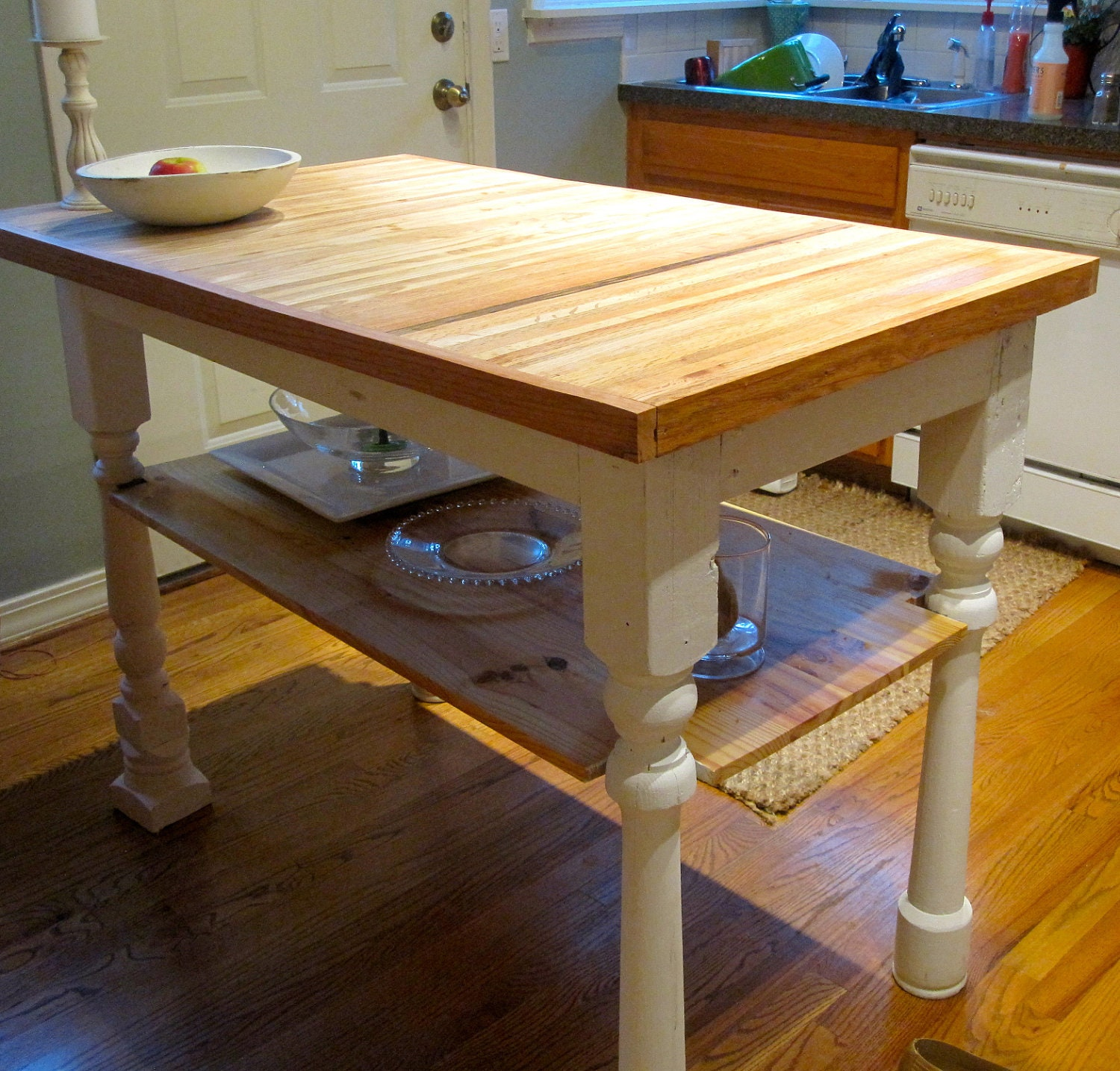 Butcher Block Kitchen Island Reclaimed Wood by ToolShedOriginals