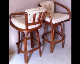 Vintage Rattan Swivel Bar Stools & Vintage swivel bar stools | Etsy islam-shia.org
