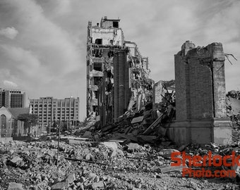 Old Cass Technical High School Demolition - Image 01251
