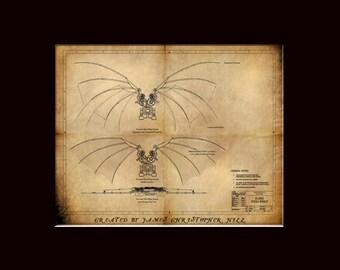 Davinci's Wings - Steampunk Blueprints