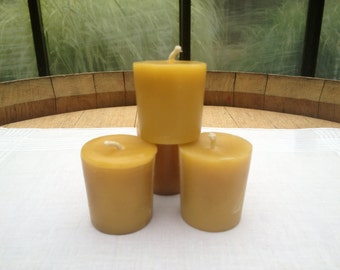 Beeswax Votive Candles (Set of 4)
