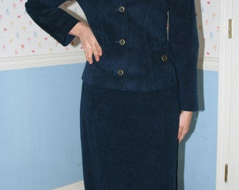 Blue Ultra Suede Suit