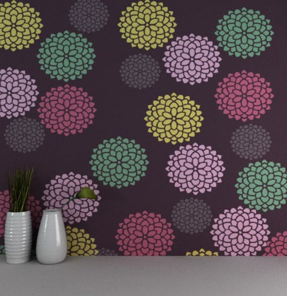 Schablone Blume Wand Wiederverwendbare Blume Wand
