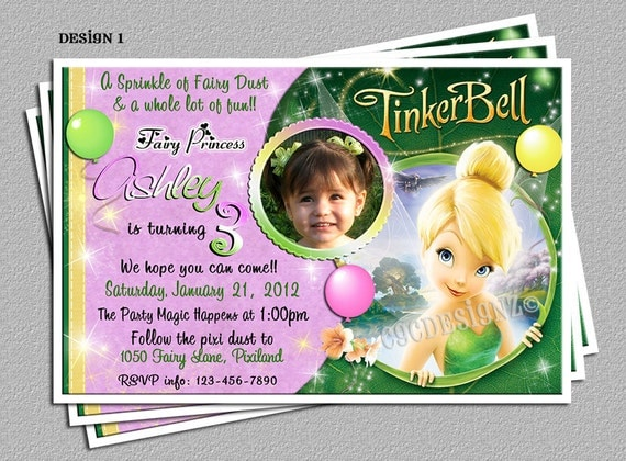 personalized tinkerbell birthday party invitations diy, Party invitations