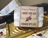 Cabernet Wine Soap - FancyNancySoap