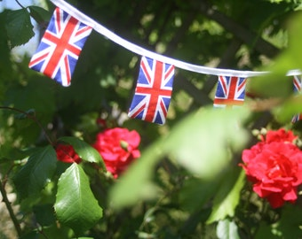 British Bunting - 4 meter Garland of mini Union Jack flags
