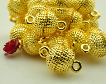 10 sets of Gold plated Magnetic Clasp in 10mm
