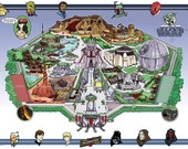 The Star Wars Universe Dream Park Map (Artist Proof)