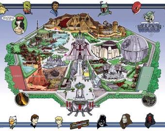 The Star Wars Universe Dream Park Map (Artist Proof)