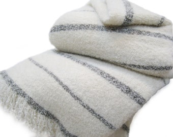 Wool & Angora Mohair Blankets, Beautiful Oversize King / Queen, All Natural, in Various Colors
