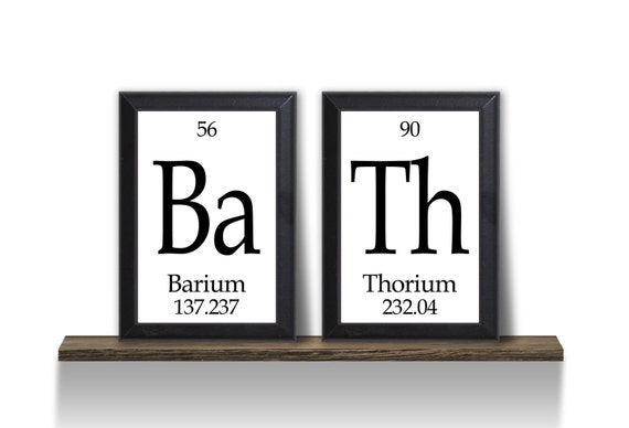 bath periodic table framed 2 piece wall by neuronsnotincluded. Black Bedroom Furniture Sets. Home Design Ideas