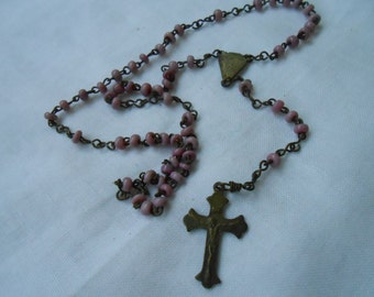 childs rosary, vintage