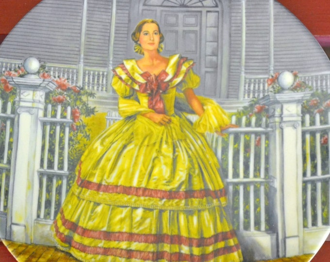 DEAL OF WEEK Collectible Knowles Plate Melanie by Raymond Kursar Gone With the Wind Series  Original Box  1980 PanchosPorch