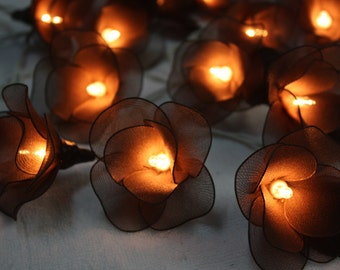 20 Brown Tone Fairy Flower String Lights  Wedding Party Floral Home Decoration