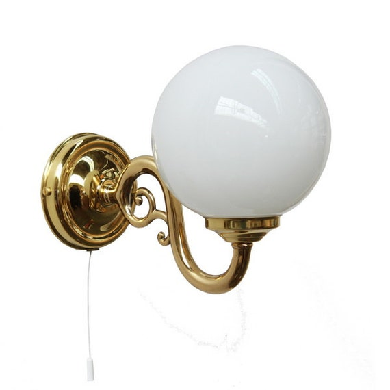 Items similar to Lorn 1 Arm Brass Pull Cord Wall Light on Etsy