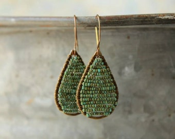 Picasso Turquoise Teardrop Earrings