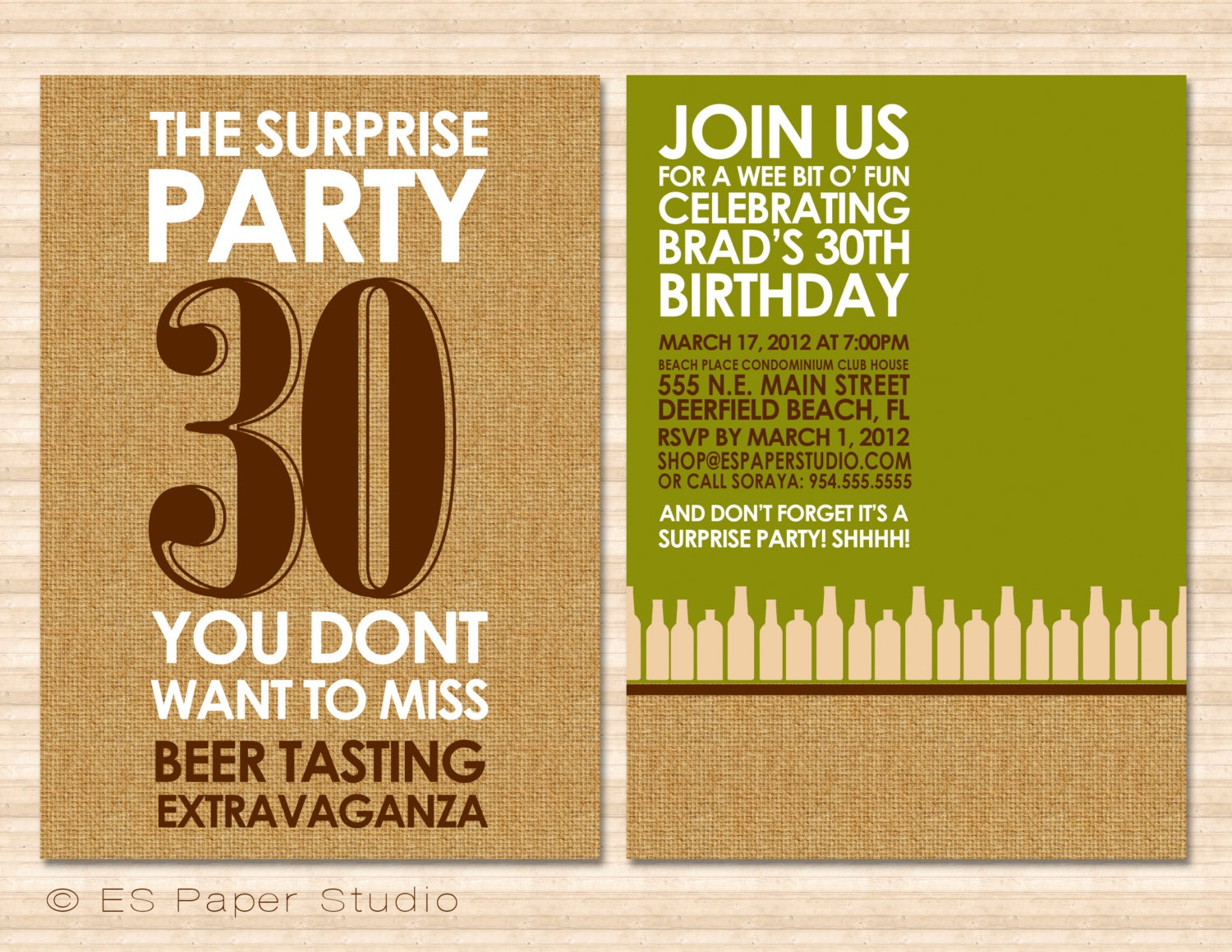 Beer Tasting PartySurprise Party Invitation Digital – Beer Party Invitations