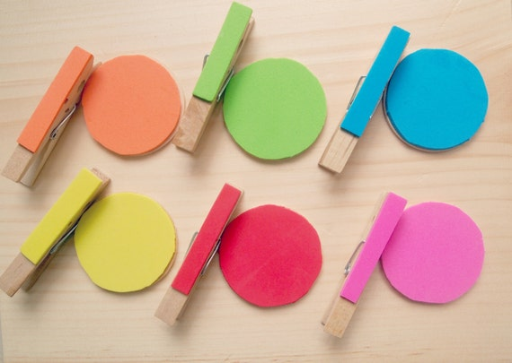 Montessori style color matching activity set for toddlers and kids