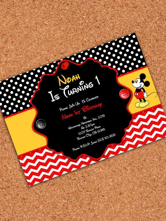 Mickey Invitations For Birthday is amazing invitation template