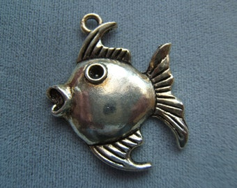 Puff Fish Metal Charm/Pendant
