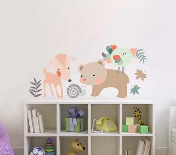 Items similar to nursery decor 4 wall fabric decals cute for Cute decor items