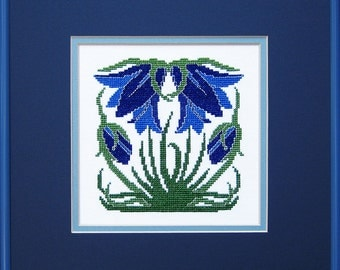 Motawi Tileworks Arts & Crafts Ladybell Cross Stitch PDF Chart