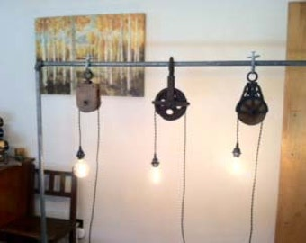 Custom Vintage Pulley Lights