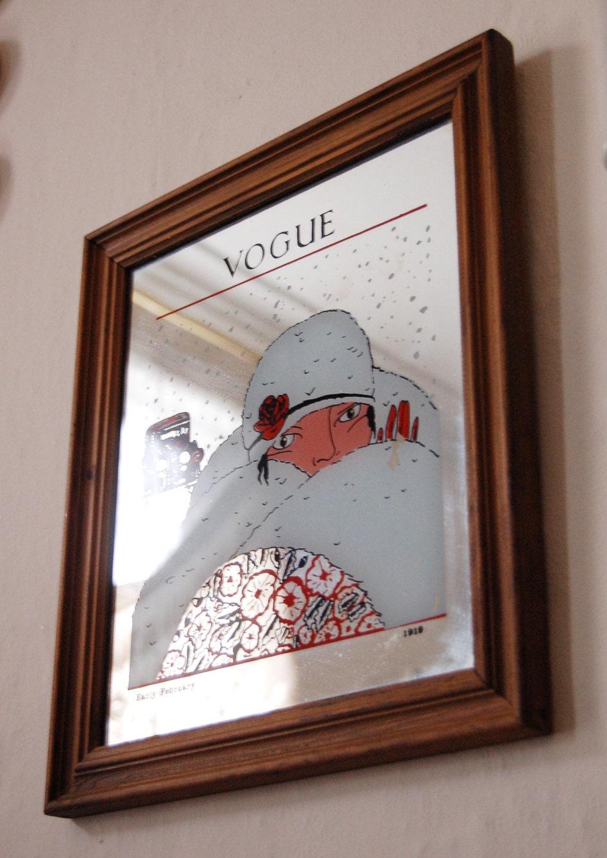 Vintage Vogue Mirror February 1919 Circa 1970s