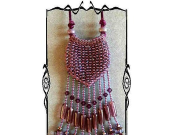 Bead Knitted Pouch: Purple Vessel, PDF VERSION