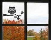 Owl on a Branch Vinyl Decal size MEDIUM - Home Decor, Children's Room Decor, Nursery Design, Animal Decal, Office Decor, Owl Decal