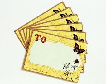 blank label BUTTERFLY STICKERS sticker labels for jars, gift stickers gift labels - gift wrapping, blank stickers, monarch butterfly gifts