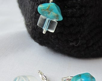 Clear Turquoise Crochet Bling