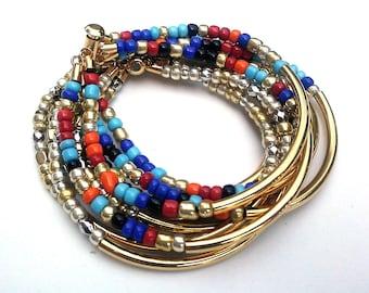Boho Bracelet Set for Layering Bracelet with Multi Strand Bracelet for Stacking Boho Chic Bracelet