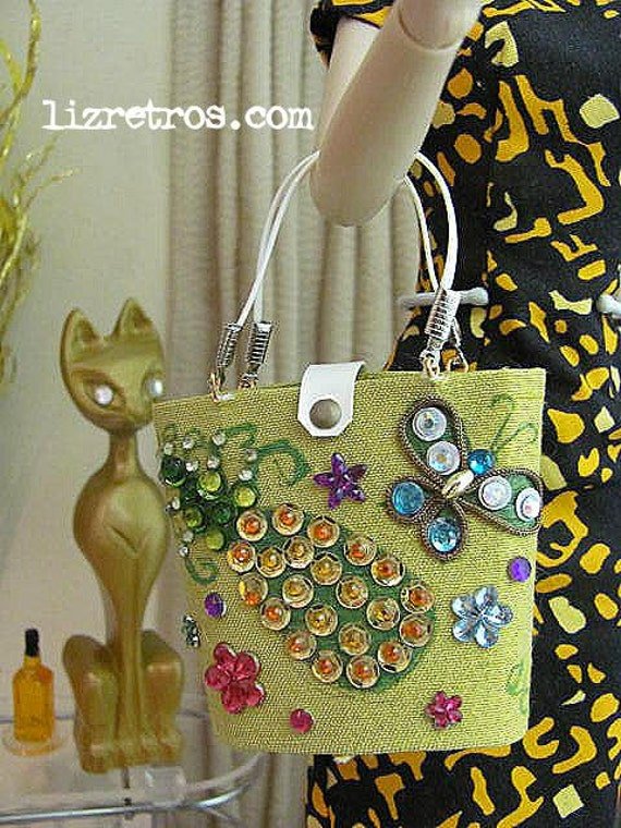 Enid Collins style Pineapple Purse for Gene, Barbie and Pals by RETROS