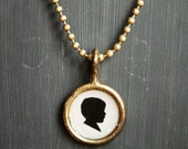Silhouette Necklace . Toddler Boy . Ready to Ship