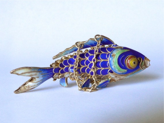 Sale chinese export koi fish pendant blue by for Chinese koi fish for sale