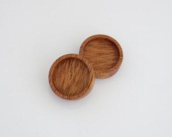 No laser fine finished hardwood bezel trays  - Mahogany - 18 mm cavity - (Z18-M) - Set of 2
