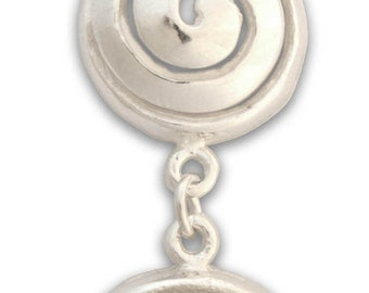 Two Spirals - Sterling Silver Pendant