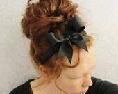 Black Bow Headband- Alice
