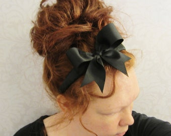 Black Bow Headband- Alice