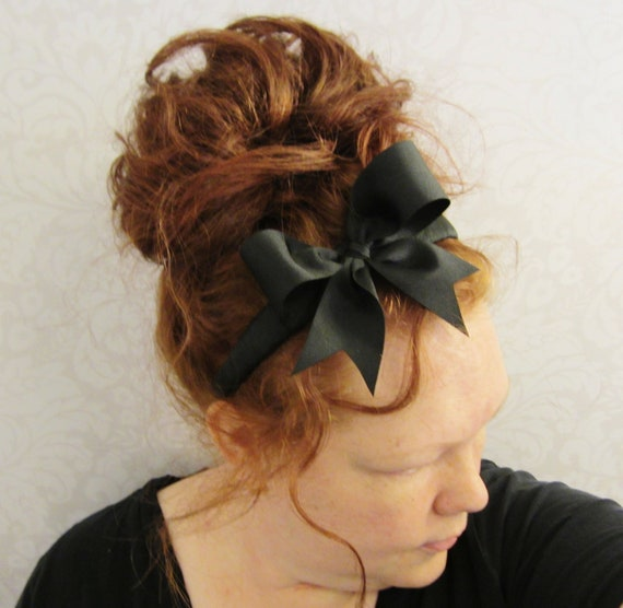 Black Bow Headband- Alice in Wonderland