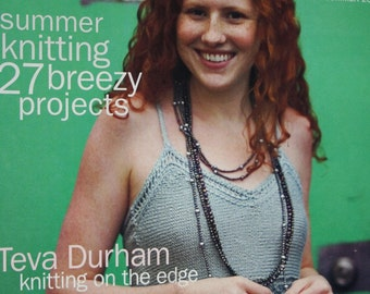 Interweave Knits Magazine Knitting Patterns Summer 2005 Sweater Tank Top Dress Women Cardigan Shrug Robe Paper Original NOT a PDF