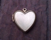 Two Vintage Brass Heart Locket. 23 mm. New Old Stock.