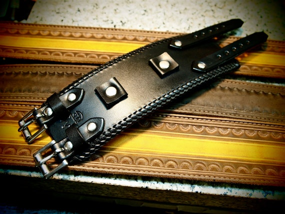 Leather cuff Bracelet Johnny Depp vintage style Wristband Best quality Made for YOU in NYC by Freddie Matara